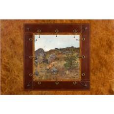 Картина из кожи Лису преследуют гончие Бруно Лильефорс