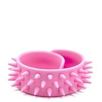 Slap-браслет с шипами (нежно-розовый)