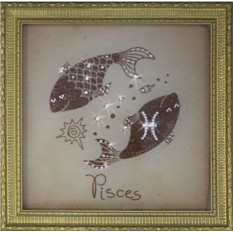 Картина с кристаллами Swarovski Рыбы