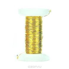 Декоративная проволока Glorex, цвет: золотой, 0,25 мм х 35 м
