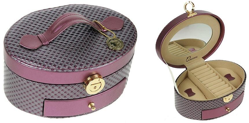 Фиолетовая шкатулка CALVANI для ювелирных украшений