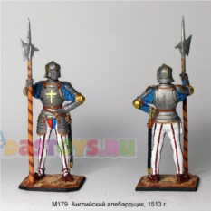 Оловянный солдатик Английский алебардщик, 1513 г.