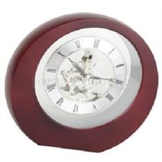 Серебристо-коричневые настольные часы