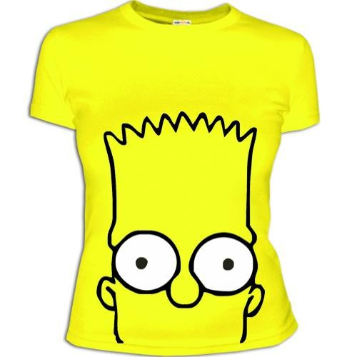 Женская футболка Барт Симпсон