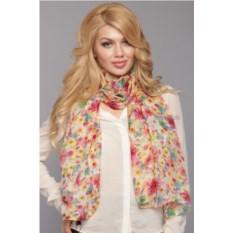 Женский желто-розовый шарф Laura Milano