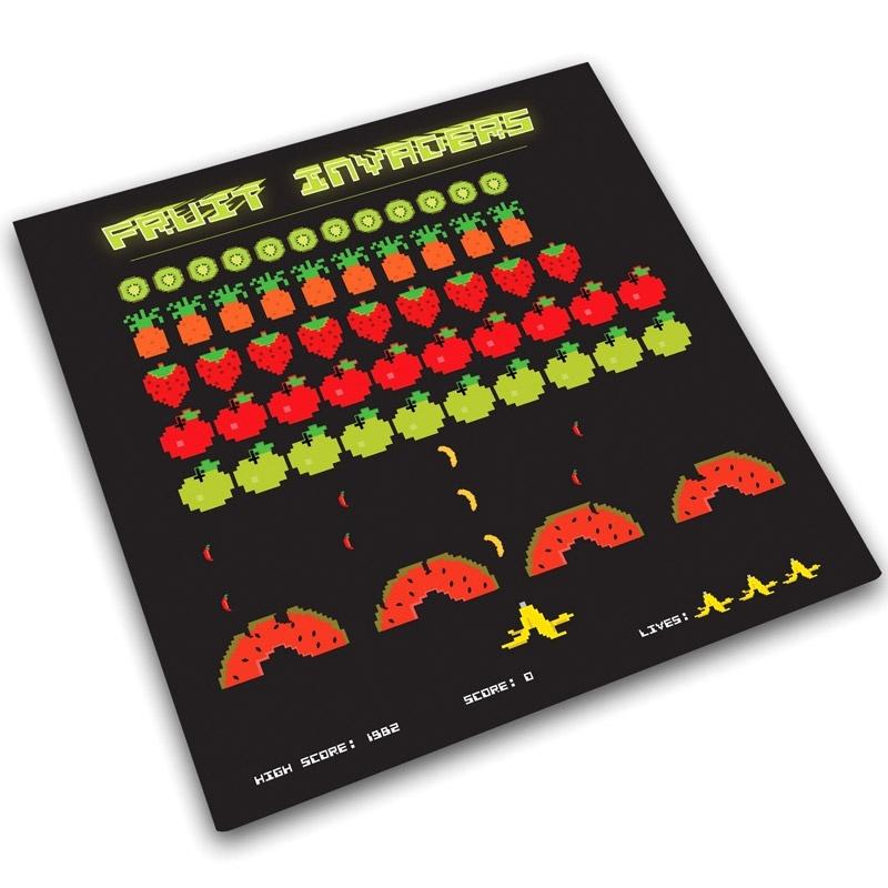 Доска для готовки и защиты рабочей поверхности Fruit invaders