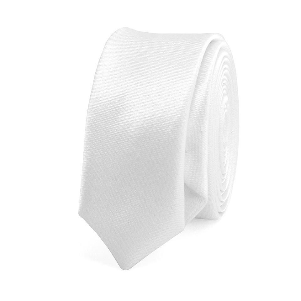 Супер узкий галстук #015 (белый)