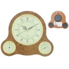 Настенные часы с термометром и гигрометром