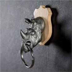Стальной держатель для ключей с брелком Rhino