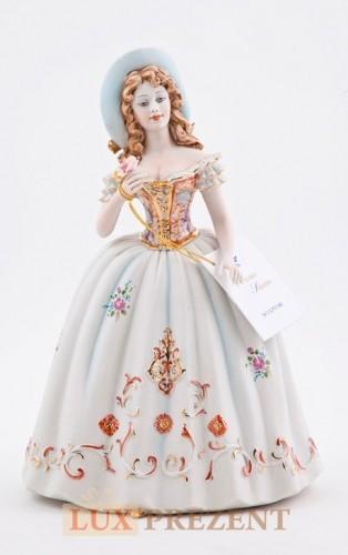 Фарфоровая статуэтка ''Леди с розой'' (золото)