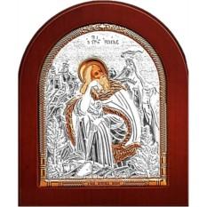 Серебряная икона Илья Пророк Фесфитянин