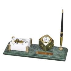 Мраморный настольный набор из часов и блок-листов