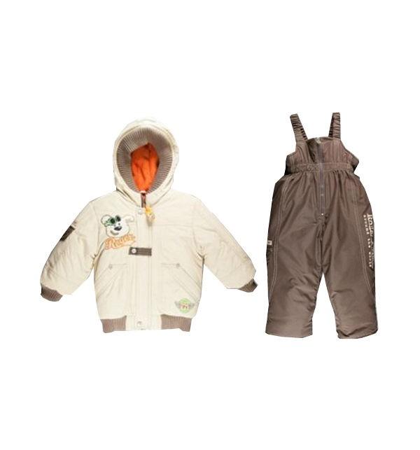Комплект Авиатор куртка и полукомбинезон, цвет: бежевый