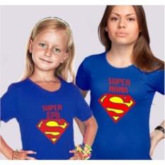 Футболки для мамы и дочки Супермама и супердочь