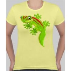 Женская футболка Ящерка