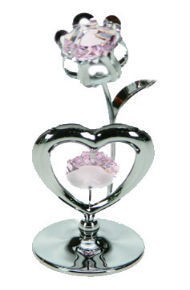 Фигурка Swarovski Тюльпан с сердцем