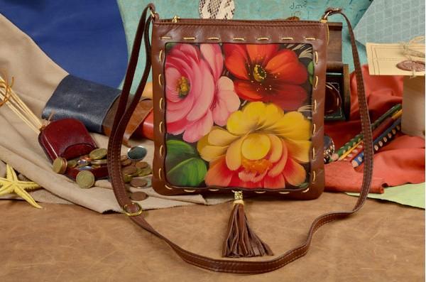 Женская сумка-планшет с принтом Хохлома