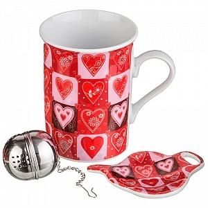 Фарфоровый чайный набор  «От всего сердца!»