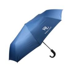Синий складной полуавтоматический зонт Liberty