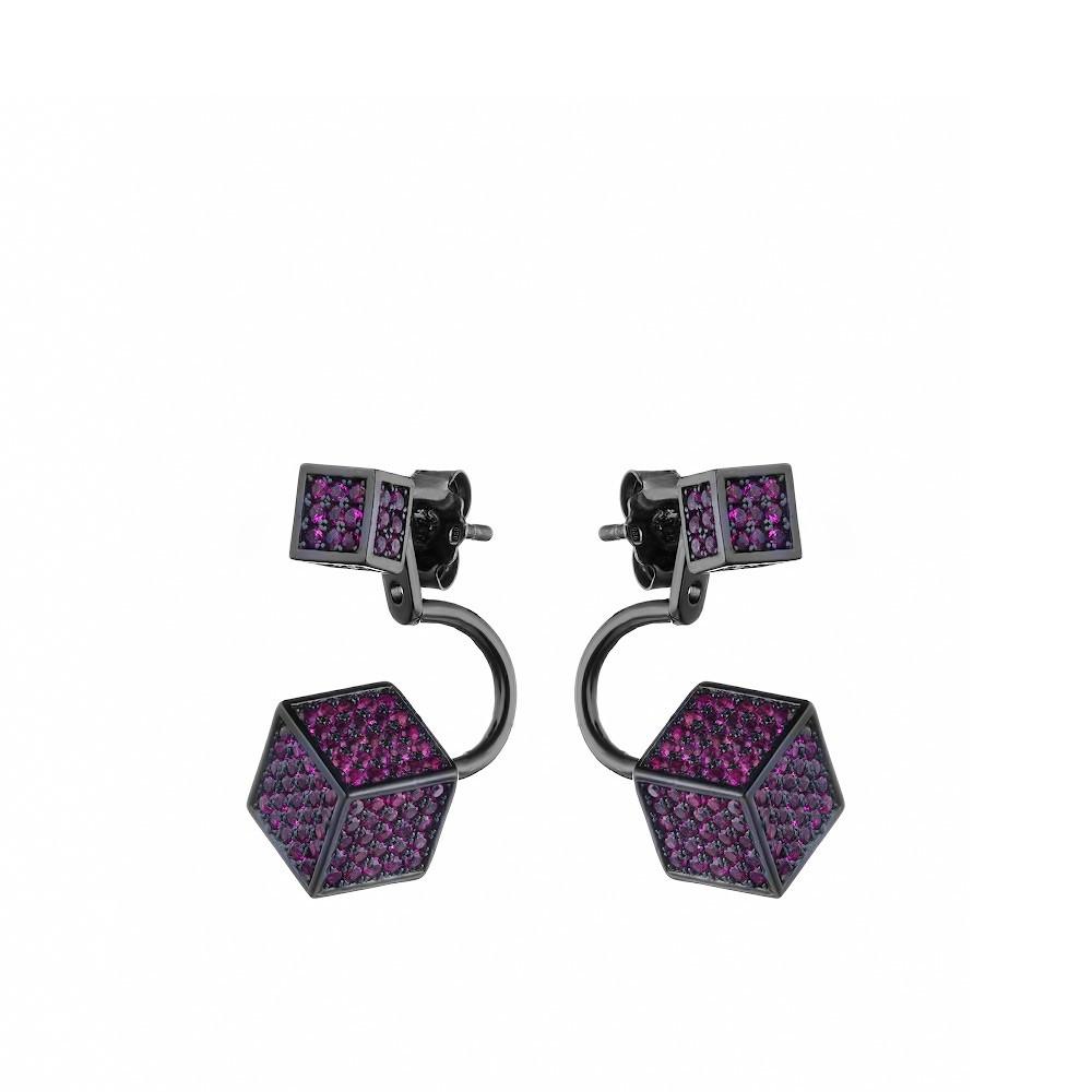 Серьги «Кубики»
