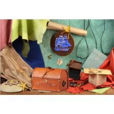Светло-коричневый кожаный сундучок из коллекции M.Studio