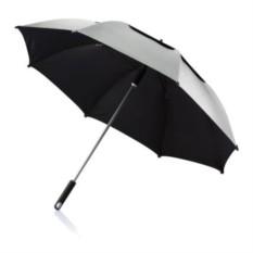 Серый зонт-трость антишторм Hurricane 27