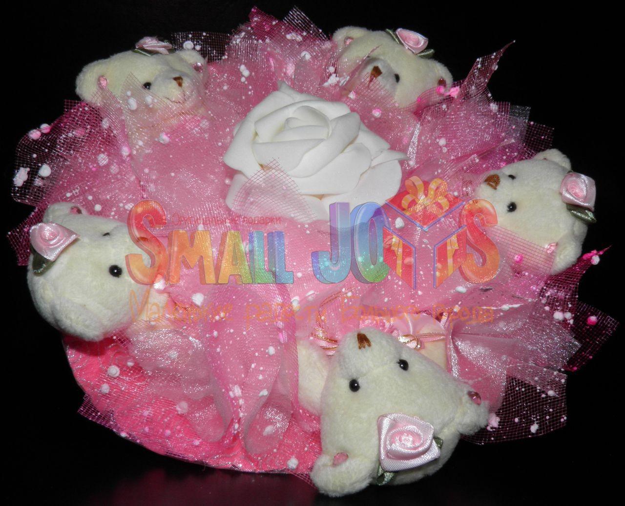Букет из мягких игрушек Грезы мини (розовый)
