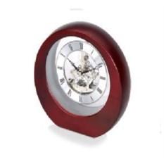 Настольные серебристо-коричневые часы