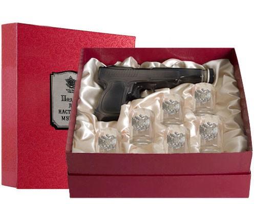 Набор штоф-пистолет и 6 рюмок СВР
