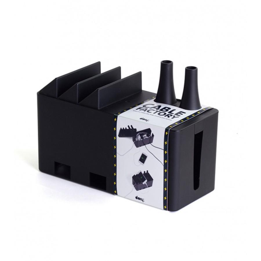 Черный органайзер для проводов Cable factory