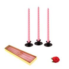 Восковые витые свечи Роза