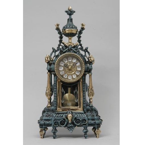 Часы каминные бронзовые с маятником
