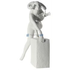 Фарфоровая статуэтка знака зодиака Овен - женщина