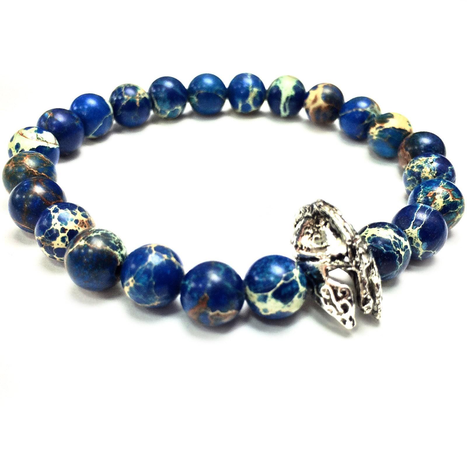 Мужской браслет из синего варисцита «Центурион»