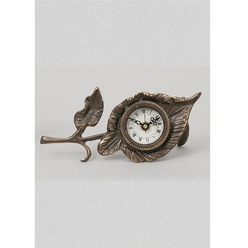Часы бронзовые интерьерные Листок