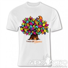 Белая мужская футболка Дерево Счастья от iCalistini