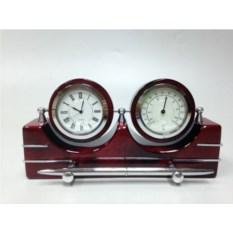 Настольный прибор: часы,термометр, ручка