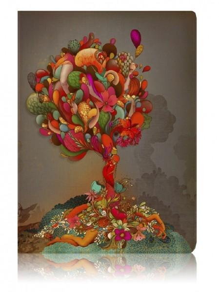 Обложка для паспорта Colorful Tree