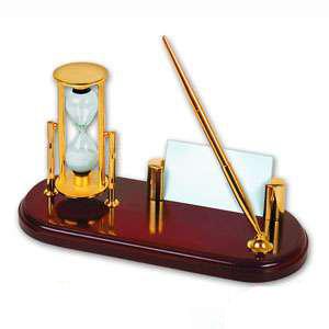 Набор: песочные часы с подставкой для ручки