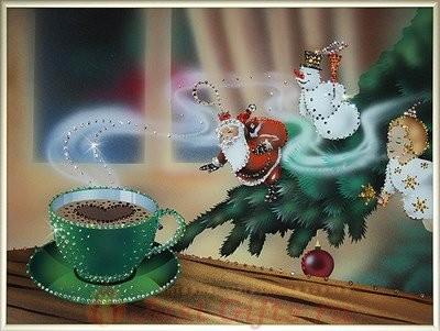 Картина Swarovski  Новогодняя история