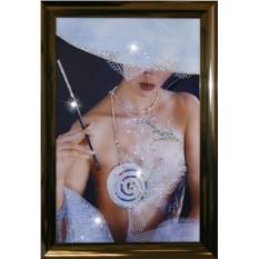 Картина с кристаллами Swarowski Дама