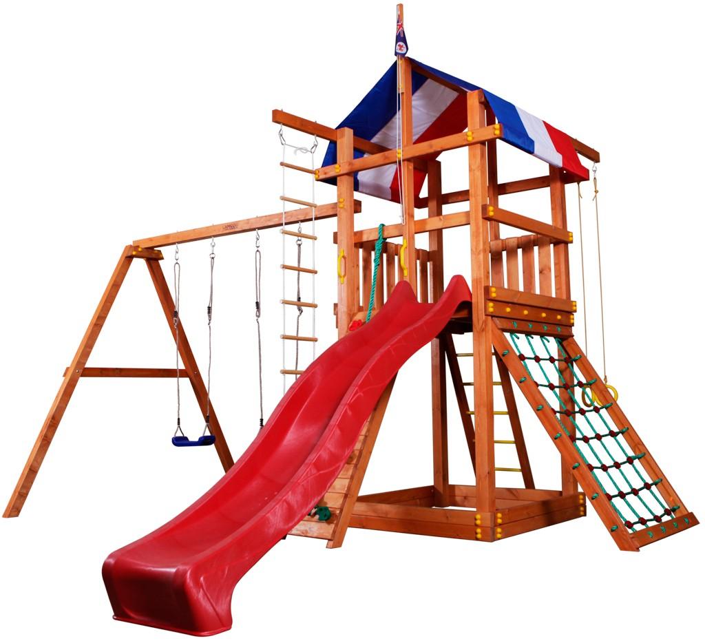 Детская игровая площадка для улицы из дерева Тасмания