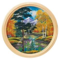 Панно на тарелке Осенний пейзаж (60 см)