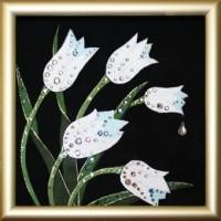 Картина Swarovski Тюльпаны