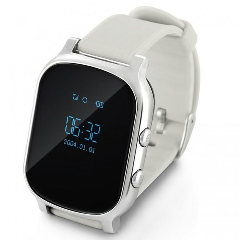 Серебристые детские часы Smart Baby Watch T58