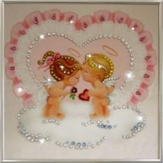 Картина с кристаллами Поцелуйчик
