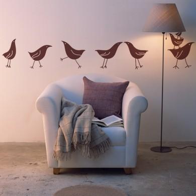 Интерьерные наклейки Марш несогласных куриц
