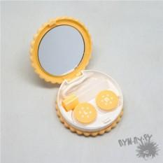 Желтый контейнер для контактных линз Cookie