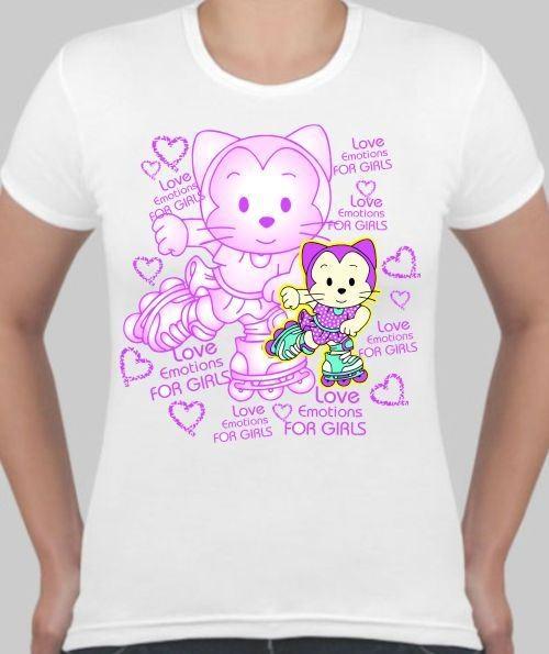 Женская футболка Love emotions for girls