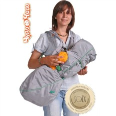 Серо-зеленый рюкзак-кенгуру BabyActive Lux